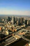 Melbourne - het panorama van de binnenstad Stock Foto's