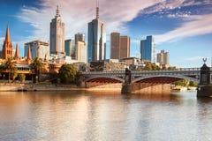 Melbourne horisont Fotografering för Bildbyråer