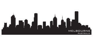 Melbourne, horizon de ville d'Australie Silhouette détaillée de vecteur illustration libre de droits