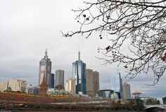 Melbourne im Winter Lizenzfreies Stockbild