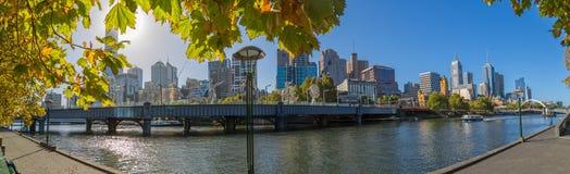 Melbourne jesieni panorama Obrazy Royalty Free