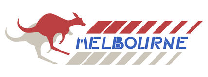 Melbourne kangaroo Stock Photo