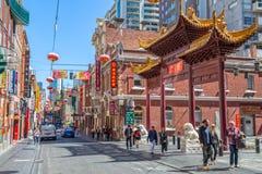Melbourne kineskvarter Arkivfoto