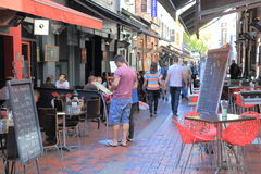 Melbourne lane cafe restaurant  Stock Image