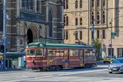 Melbourne miasta okręgu tramwaj Fotografia Stock