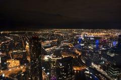 Melbourne miasto od above zdjęcie stock