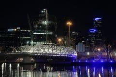 Melbourne modern architecture night cityscape Australia Stock Image