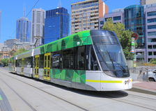 Melbourne modern tram Royalty Free Stock Photo