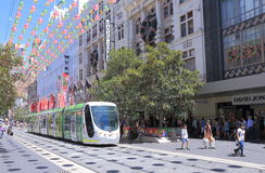 Melbourne modern tram Royalty Free Stock Photos