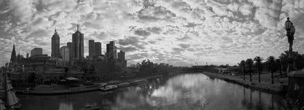 Melbourne na zima ranku fotografia royalty free