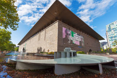 Melbourne National Gallery of Victoria. MELBOURNE - JAN 31 2016: National Gallery of Victoria - the oldest and most visited art gallery in Australia Royalty Free Stock Photos