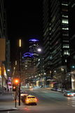 Melbourne natthamnkvarter Arkivfoto