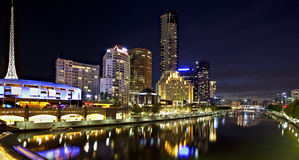 Melbourne by Night stock photos