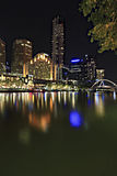 Melbourne by Night Stock Image