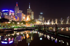 Melbourne at night. Victoria, Australia Stock Photography
