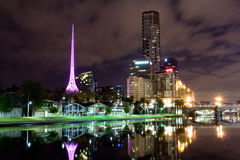 Melbourne at night. Victoria, Australia Royalty Free Stock Image