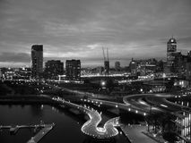 Melbourne at Night royalty free stock photo