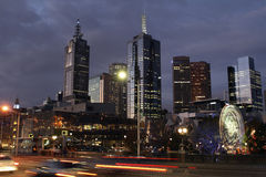 Melbourne Night Stock Photos