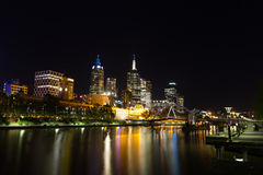 Melbourne at night Royalty Free Stock Images