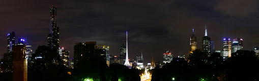 Melbourne by night Royalty Free Stock Images