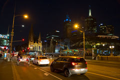 Melbourne at night Royalty Free Stock Image