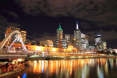 Melbourne night Stock Photography