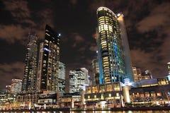 Melbourne night view Royalty Free Stock Photos