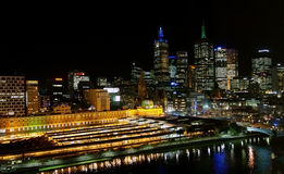 Melbourne Night Skyline Royalty Free Stock Image