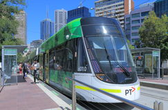 Melbourne nowożytny tramwaj Obraz Royalty Free