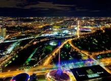 Melbourne och dess sportsliga polisdistrikt Royaltyfri Fotografi