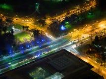 Melbourne och dess sportsliga polisdistrikt Arkivbild