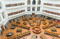MELBOURNE - OCTOBER 9, 2015: Interior of La Trobe Reading Room o Stock Images