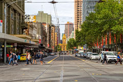 Melbourne old tram station Royalty Free Stock Images