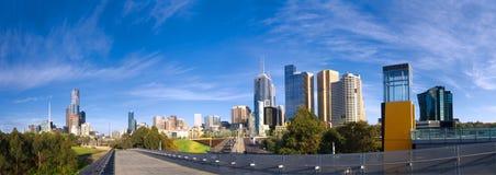 Melbourne op een de lentedag Stock Afbeeldingen