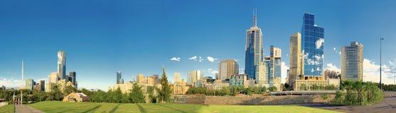 Melbourne panorama Arkivfoto