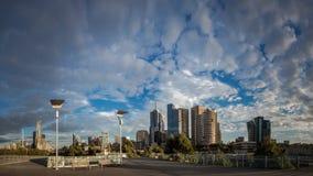 Melbourne-Panorama lizenzfreies stockfoto