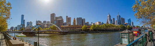 Melbourne panorama Stock Photo