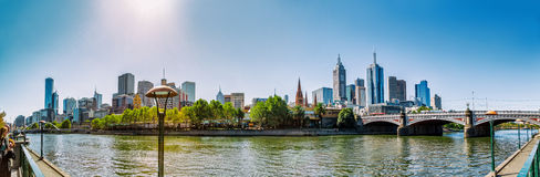 Melbourne panorama Royalty Free Stock Image
