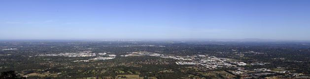 Melbourne panorama view. From Mt. Dandenong Stock Photo