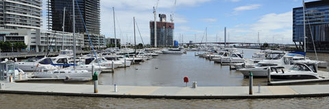 Melbourne panorama at Yarra Royalty Free Stock Photography