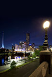 Melbourne par Night Image libre de droits