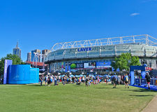 Melbourne Park during the Australian Open Stock Images