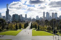 Melbourne park city Fotografia Royalty Free