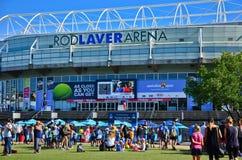 Melbourne-Park während der Australian Open Stockbilder