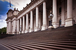 Melbourne Parliament House. This building is Melbourne Parliament House in Victoria, Australia. From 1901 to 1927 it was used by the National Government before stock image
