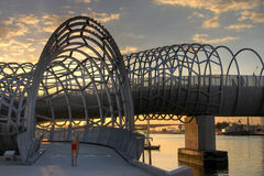 Melbourne - passerelle de Webb Photos stock