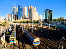 Melbourne peak hour Royalty Free Stock Photo
