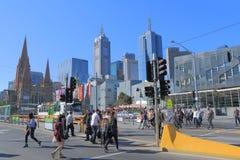 Melbourne pejzaż miejski Australia Fotografia Stock