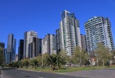 Melbourne pejzażu miejskiego mieszkaniowy mieszkanie Obraz Royalty Free