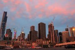 Melbourne pejzażu miejskiego rozwój Australia Zdjęcia Royalty Free
